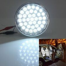 12V 37 LED White Car Interior Round Dome Roof Ceiling Door Light Lamp Taxi Truck