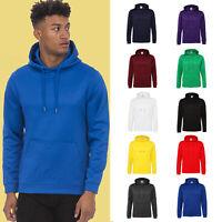 AWDis Sports Polyester Hoodie Men's Plain Casual or gym hooded sweatshirt |S-3XL