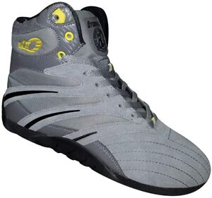OTOMIX M8000 EXTREME TRAINER SHOES SUEDE GREY/YELLOW/BLACK AND FREE HAT
