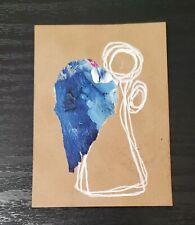 ACEO Mixed Media Angel of Communication Paint Peel Mini Art Card ATC
