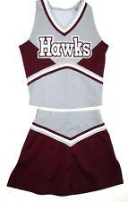 "Child Hawks Cheerleader Uniform Outfit Halloween Costume Fun 28"" Chest 22"" Skirt"