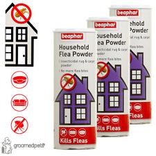 3 x Beaphar Household Flea Insecticidal Rug & Carpet Powder,Kills Fleas, 300 g