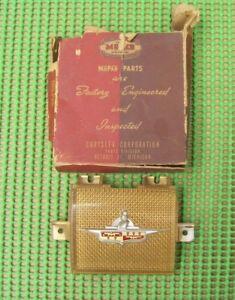 NOS MoPar 1946 1947 1948 DeSoto Six Custom Deluxe HORN BUTTON ORNAMENT 1115781