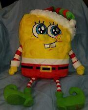 "Nickelodeon Macys Spongebob Squarepants Christmas Plush 18"" Stuffed Toy Santa"