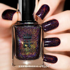 A England - Holographic Nail Polish - IN ROBE & CROWN  - Dark Lavish Red