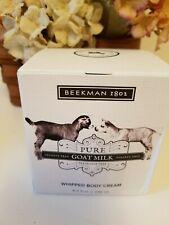 Beekman 1802  Fragrance Free  whipped Goat Milk Body Cream 8 oz jar New in Box
