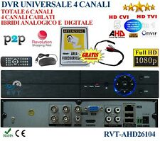 Dvr universale 4 canali ibridi  analogico digitale ahd Full HD Italiano p2p top
