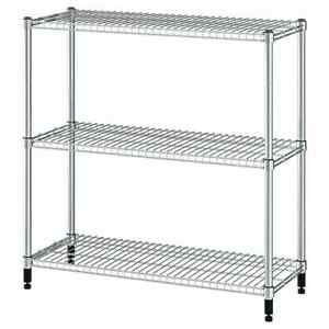 IKEA OMAR Shelving unit, Available in galvanised 92x36x94 cm *Brad New*