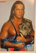 Bret The Hitman Hart Autogrammkarte WWE WWF Wrestling