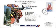 B0277- MISE EN LIGNE AIRBUS A 340 AIR FRANCE   PARIS  SINGAPOUR