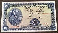 LADY LAVERY £10 BANKNOTE 1975 RADAR SERIAL NUMBER