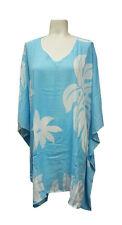 Hawaiian Ladies Rayon Tiare Flower Swimwear Kimono Coverup Poncho One size