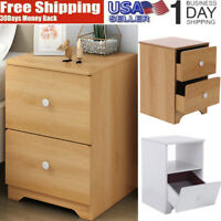 1 Or 2 Drawer Wooden Bedside Table Bedroom Chest Modern Decoration Storage Table