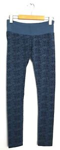 "Nomads Hempwear Womens Size XS 25 x 31"" Blue Print Bamboo Knit Leggings"