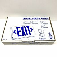 Emergency LED Universal Lighting Fixture Green Letter EXIT Sign BATTERY BACKUP