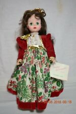 "14"" Madame Alexander Christmas Series Green Eye Lillian Doll with Hang Tag"