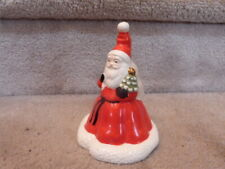"Vintage 1986 Fitz & Floyd Ff Santa Claus Christmas Bell 5.5""T"