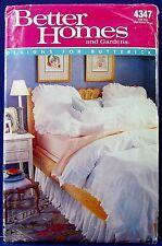 Butterick Ruffle Duvet Cover Sewing Pattern Pillow Case Dust Sham Curtain 4347