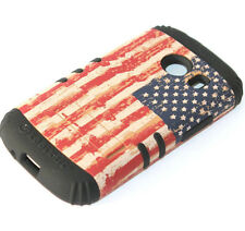 Samsung Galaxy Ace Style G310 - RED US FLAG Hard & Soft Rubber Hybrid Armor Case