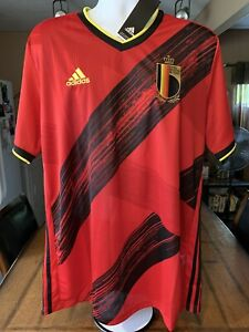 adidas 2020-2021 Belgium Home Jersey Red / Black - New With Tags Authentic