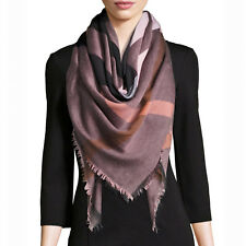 NWT Authentic Burberry Relaxed Mega Check Square Scarf