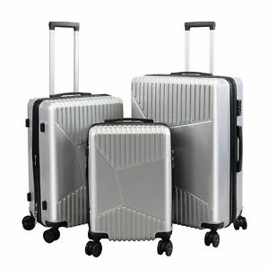 3 Pieces Travel Luggage Set Includes 20 Inches, 24 Inches and 28 Inches Suitcase