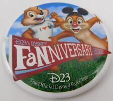 Disney Fan Club D23 Fanniversary 2012 Chip Dale Pin Button