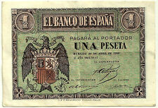 BILLETE DE 1 PESETA DE 1938 (MBC) ABRIL (SERIE D)