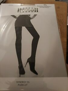 3 x pairs Wolford Synergy 20 Push Up Tights XL, nearly black, Slight 2nds
