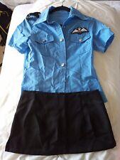 Ann Summers style sexy air hostess pilot fancy dress costumes women small