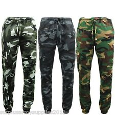 MENS ARMY CAMOUFLAGE JOGGER BOTTOMS S - 5XL GAME CAMO JOGGING TROUSERS CARGO