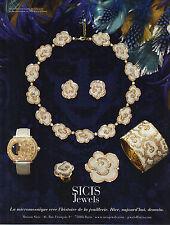 PUBLICITE  2012   SICIS  jewels bijoux en micromosaique