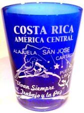 COSTA RICA MAP COBALT BLUE SHOT GLASS SHOTGLASS
