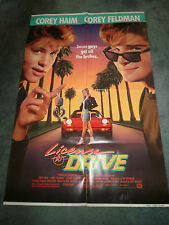LICENSE TO DRIVE(1988)COREY HAIM  ORIGINAL ONE SHEET POSTERS
