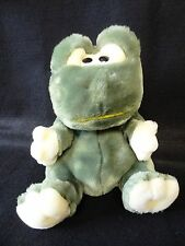 "10"" SOFT Green FROG Plush Stuffed Animal HAND PUPPET"