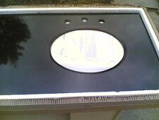 Brand New ~ Elegant Black Granite Bathroom Double-Bowl Sink Vanity Top (73 x 22)