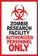 Zombie Research Facility Art Poster Print Poster Print, 13x19