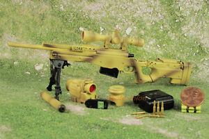 G16 1:6 Military Accuracy International AWM MK 13 Mod 5 G22 Desert Sniper Rifle