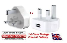 UK AC Plug Wall Mains USB Charger Adapter FOR iPhone 4s 5 5s Galaxy HTC Sony