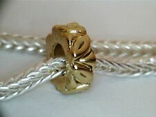 GOLD PLATED LEAF SPACER BEAD CHARM ** SEE MY STORE FOR MORE BRACELETS