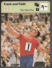 ALEKSANDR BARYSHNIKOV The Shot Put Track & Field 1978 SPORTSCASTER CARD 37-02A