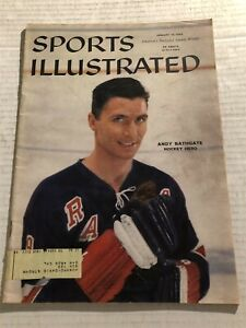 1959 Sports Illustrated NEW YORK Rangers ANDY BATHGATE Hockey Hero NYR NHL