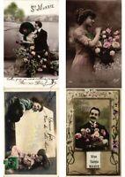 MARIE NAME NAMESDAY GREETINGS 16 Vintage Postcards