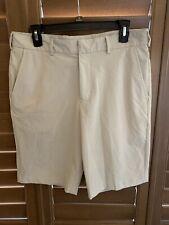 Walter Hagen Men's Essential Oxford Golf Shorts Mid Tan Size 32