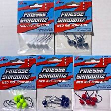 Z-Man Finesse ShroomZ Ned Rig Jig heads Fishing Bass Choose Color & Size Zman