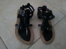 lotto 570 infradito scarpe donna sandali n.35 nere/marroni