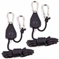2 x Rope Ratchet Adjustable Light Hanger Tent Carbon Filter Hydroponic Grow 68kg