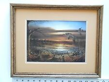 Terry Redlin REFLECTIONS framed 11X14 o