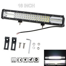 16inch 432W 66960LM Tri Row 7D LED Work Light Bar Spot Flood Combo For SUV JEEP