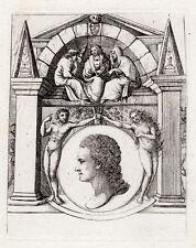 "Awesome 1803 David Deuchar ORIGINAL Macabre Etching ""Creation of Man"" FRAMED COA"